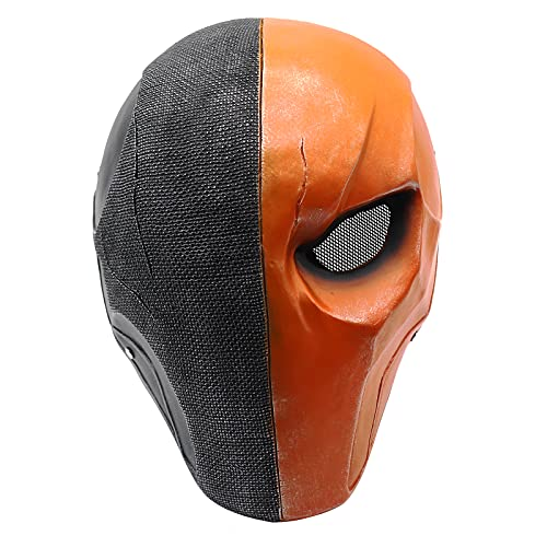 Hewufo Deathstroke Mask Helmet Airsoft Face Protection Paintball Cospaly Mask 1:1 Replica (Black-Yellow)