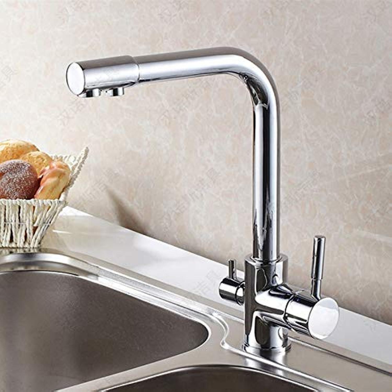 CZOOR Neu Design-Küchenarmatur aus massivem Messing mit hochwertigem Chrom-Spülbecken-Hahn für Fliter-Küchenwasserhhne