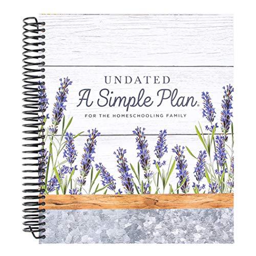 A Simple Plan Homeschool Planner, Undated, Modern Farmhouse, Spiral, 1 Each