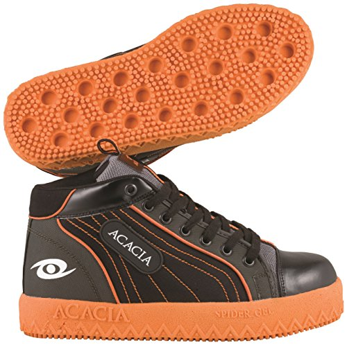 ACACIA Spider-Gel Pro Broomball Shoes, Gray/Black/Orange, 3
