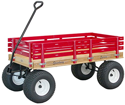 Speedway Express Wagon Model 830 Amish-made Red with Big Wide Knobby Tires
