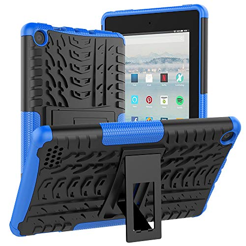 ROISKIN Amazon Fire HD 7 Tablet Case 9th Generation 2019 and 7th generation 2017 Release, [Kickstand Feature] Heavy Duty Shockproof Full Body Protective Case Cover for Kindle Fire 7, Blue