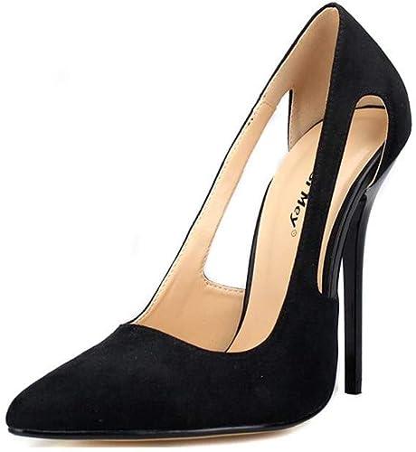 zapatos De Tacón Europa Y América damas Microfibra 13 Cm Moda Club Nocturno Salvaje Stilettos Sexy