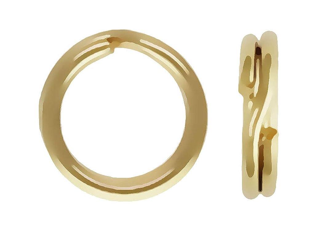 14K Gold 5mm Round Split Ring Qty=1
