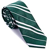 Striped Tie for Cosplay Party Costume Necktie Accessories for Halloween Christmas Birthday Party - Green