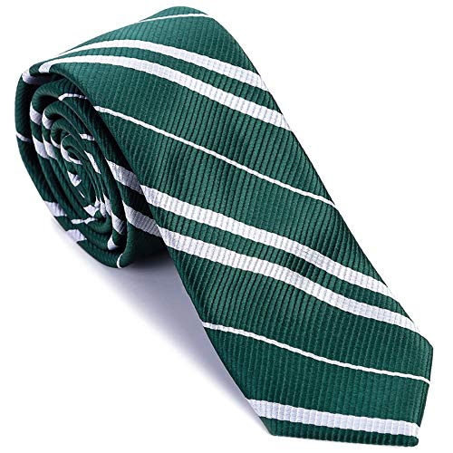 Cosplay Striped Tie for Cosplay Party Costume Necktie Accessories for Halloween Christmas Birthday Party - Green
