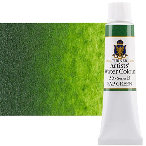 Turner Concentrated Professional Artists' Watercolor Paint 15ml Tube - Sap Green