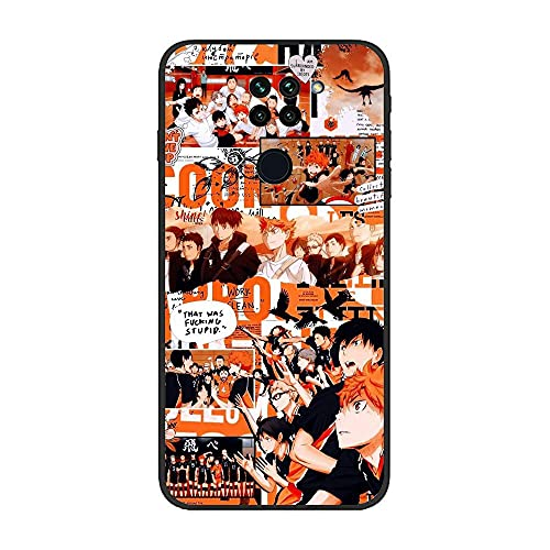 BAMANER Case for XIAOMI Redmi Note 9/10X 4G, Haikyuu-Kageyama Tobio-Hinata Shouyou Art 7 Black TPU Matte Coque Fit Flexible Ultra Thin