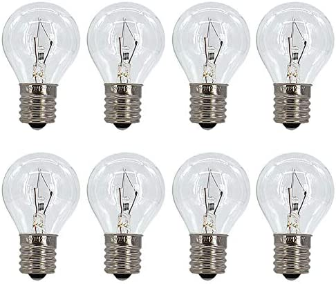 8 Pack S11 Intermediate E17 Base 25 Watt Bulbs for Lava Lamps Replacement Bulbs for Lava Lamps product image