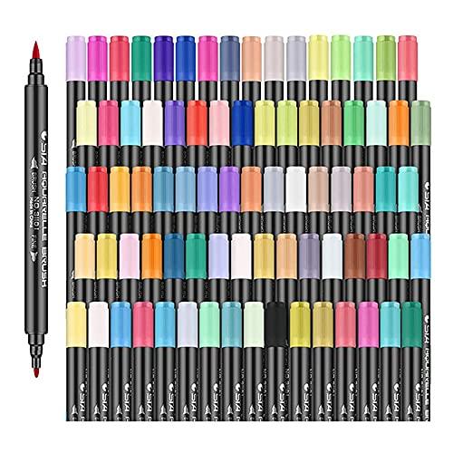 Artist Watercolor Real Brush Pens,Art Supplies 24Pcs Colors Brush Marker Pens for Journaling Kid Adult Drawing Pens Script Paintbrush for Calligraphy