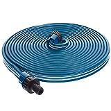 Smartfox Sprühschlauch Sprinkler Gartenschlauch Wasserschlauch mit 7,5 m ausgedehnt mit 1/2' Zoll Anschluss in Blau