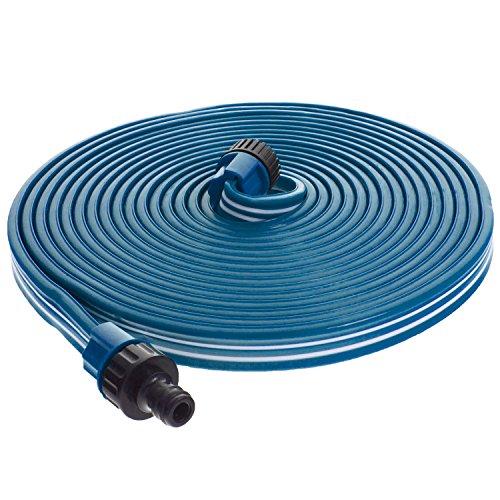 """Smartfox Sprühschlauch Sprinkler Gartenschlauch Wasserschlauch mit 7,5 m ausgedehnt mit 1/2\"""" Zoll Anschluss in Blau"""