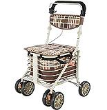 Best Rollators - Aluminium Four Wheeled Rollator Walking Aid,Seat & Shopping Review
