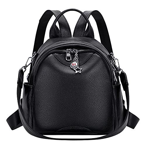 ALTOSY Mini Rucksack Damen Klein Echtes Leder Rucksäcke Mode Uni Daypack Schultertasche...