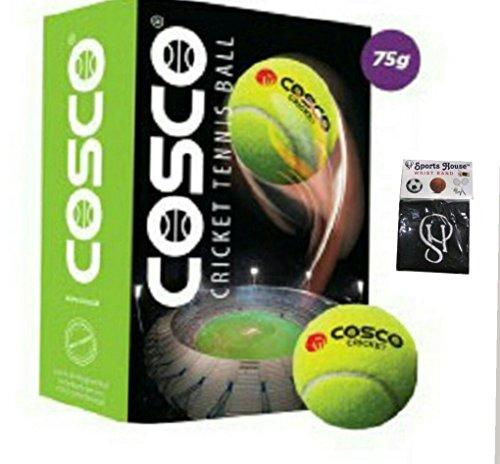 Cosco 12001Light Cricket Tennis Balls (Confezione da 6) e Free Sportshouse Cinturino Band