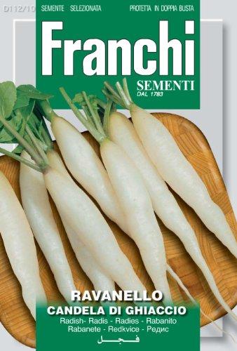 Seeds of Italy Ltd. Franchi Graines de radis long piquant Candela Di Ghiaccio