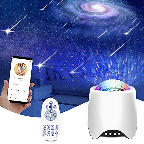 Star Projector Galaxy Light, Fansbe 3 in 1 Bedroom Galaxy Star Light Projector /8 White Noise/Built-in Bluetooth Speaker for Kids Adults Bedroom Room Ceiling with Remote Control