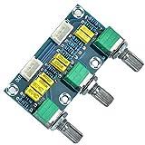 ARCELI Amplificadores de Tubo Amplificador de Audio Preamplificador de Tonos HiFi Bass Control de Volumen de Agudos Subwoofer 3 Canales 2.1 Amplificador