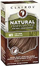 Clairol Natural Instincts Semi-Permanent Hair Color For Men, M9 Light Brown Color, 3 Count