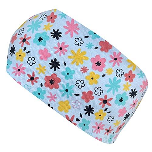 Wollhuhn Cinta elástica para el pelo para mujer y niña, con diseño de flores, color azul 20202055