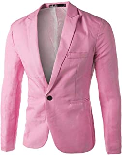 HaiDean Design Spring Autumn Winter Charm Slim Casual Mens Modern Casual Fit One Button Suit Blazer Coat Jacket Tops Men i...
