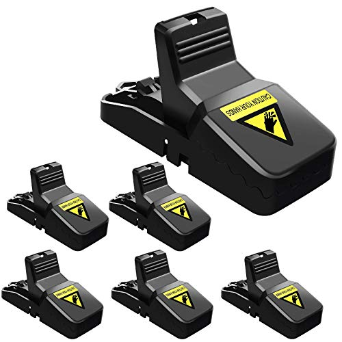 Authenzo Mouse Traps Indoor Mouse Trap Mice Traps for House Mouse Traps No See Kill 6 Pack