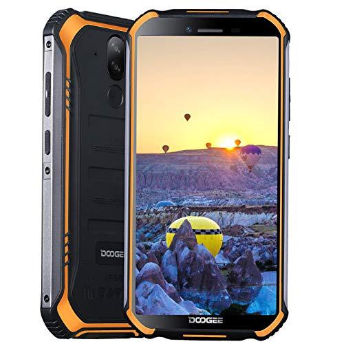 "DOOGEE S40 PRO Rugged Smartphone IP68,Cellulare Antiurto NFC,RAM 4GB,ROM 64GB(Espandibile 256GB),Android 10 Dual 4G,Schermo 5.45"",Batteria 4650mAh,Fotocamera 13MP+5MP,Lettore Impronte(Arancia)"
