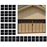 Homend 64-Pack Magnetic Panels for Metal Car Garage Door Decoration Fake Faux Windows(6.125' x 4'),Large Door Faux Magnetic Windows All Season Weather Resistant Non-Fade PVC Small Panels Kits