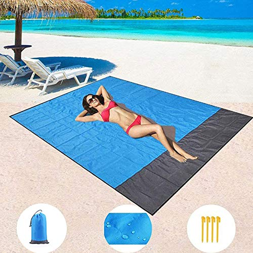Portable Picnic Beach Mat Pocket Blanket Waterproof Beach Mat Blanket Ground Mat Mattress Outdoor Picnic Camping Tent Mat