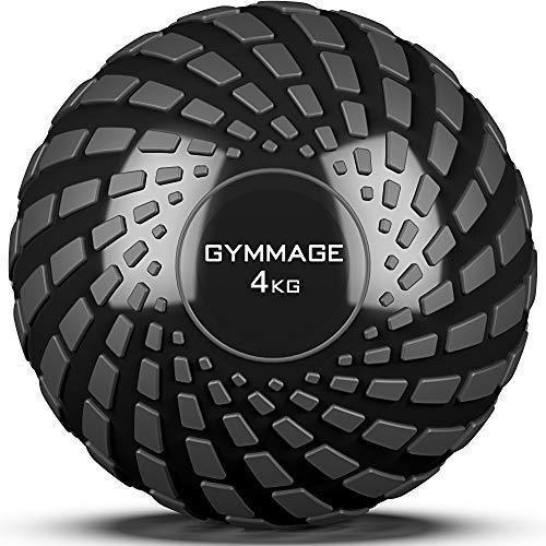 GYMMAGE メディシンボール 4kg 筋力トレーニング スラムボール エクササイズ (ブラック)