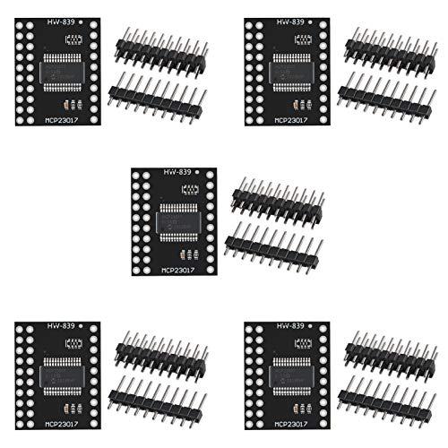 AITRIP 5 pcs MCP23017 Bidirectional 16-Bit I/O Expander with I2C IIC Serial Interface Module