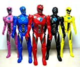 5pcs Power Rangers Movie Action Figure Jason Kimberly Play Set Toy W/ Light 17cm