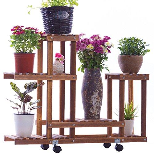 LCHY TtYj-Multifuncional soporte de flores de madera estantes de flores, balcones Pisos de madera, macetas de interior y exterior, estantes de plantas y marco de bonsai soporte de flores