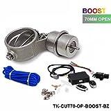 Válvula de control de escape con Boost actuador de 70mm de tubo opend con remoto inalámbrico controlador Set tk-cut70-op-boost-bz