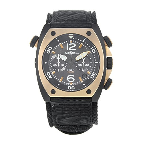 Bell & Ross Marine BR02-CHR-BICOLOR Matte PVD Black Steel Automatic Men\'s Watch