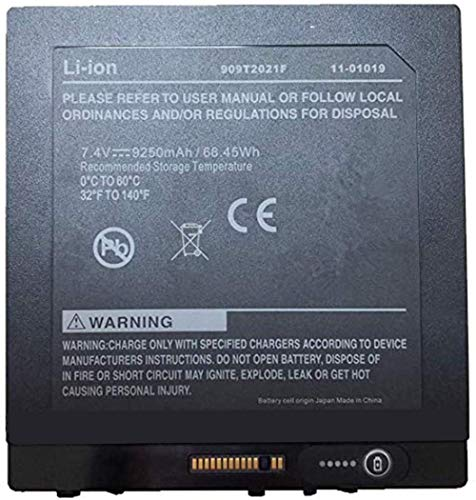 YNYNEW 909T2021F 11-01019 Replacement Battery Compatible with Xplore iX104 Tablet PC Series BTP-80W3 BTP-87W37.4V,9250mAh/68.45Wh