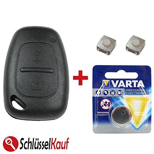 KONIKON Autoschlüssel Gehäuse Reparatur Set Mikrotaster Batterie NEU passend für Renault Opel Taster Trafic Master Movano Vivaro