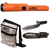 Garrett Pro Pointer AT Metal Detector Waterproof with Camo Digger's Pouch and Edge Digger