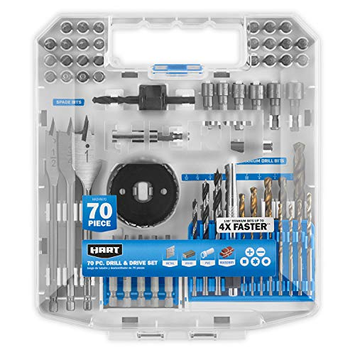 70-Piece Drill and Drive Bit Set with Protective Storage Case