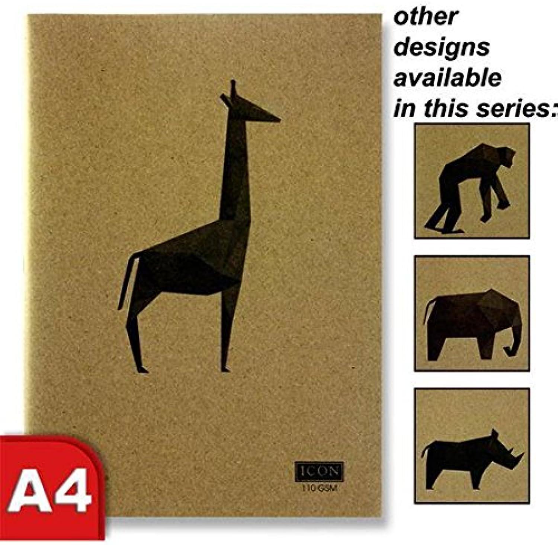 Icon A4 80pg 110gsm Premium Kraft Weiß Plain Paper Animilia Art Sketch Pad Book x 4 B07FXV6WQQ   