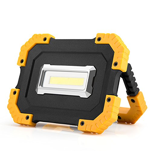 15W Rechargeable LED Work Lights Portable COB Flashlight 1000Lumen Super Bright Emergency Floodlight Power Bank Device for Workshop Construction Site