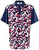 ReadyGOLF Mens Golf Polo Shirt - USA Red, White & Blue Camo Large