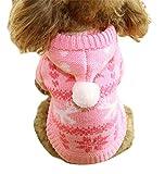 La Vogue Ropa de Perro Punta con Capucha para Mascota Invierno Caliente Rosa M