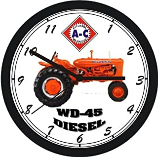 ALLIS CHALMERS WD45 DIESEL TRACTOR WALL CLOCK- FREE USA SHIPPING