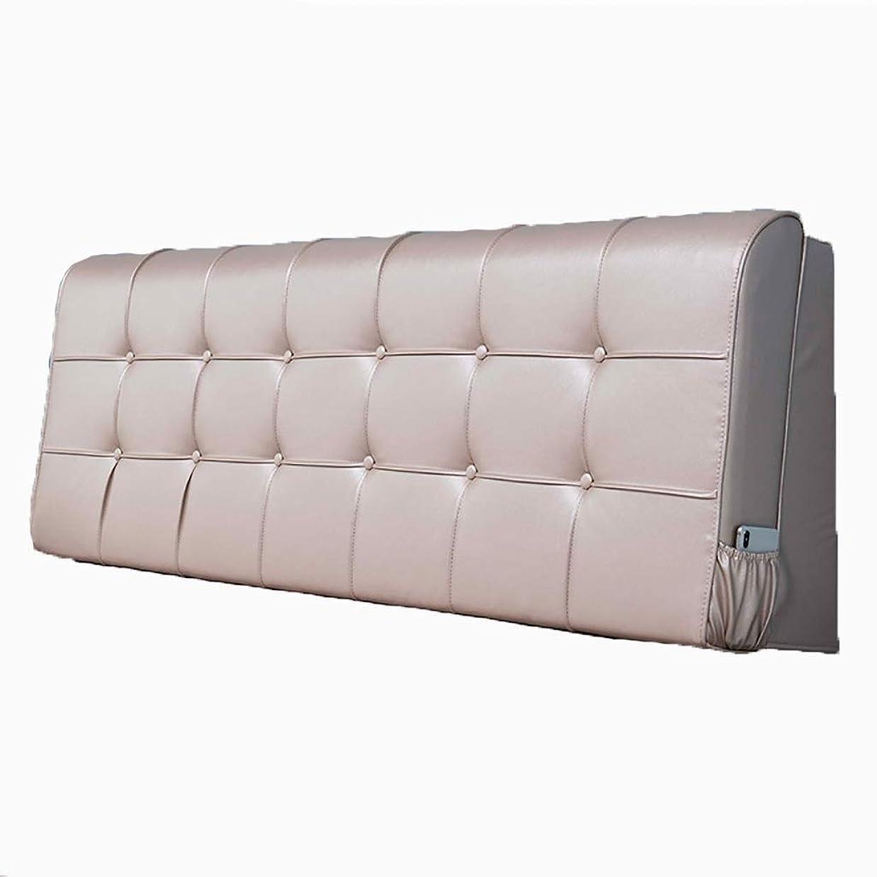 ライター磁気可能性ベッド枕 クッションバック畳ヘッドボードソフトパックダブルラージバッククッションベッドカバー取り外し可能&洗えるシアー生地スポンジフィラーサイドポケットデザイン6色 写真ベッド枕首まくら (色 : D, サイズ さいず : 160cm)