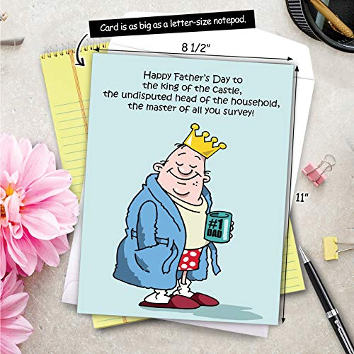 NobleWorks - Jumbo Fathers Day Card Funny (8.5 x 11 Inch) - Hilarious Greeting Notecard for Dads, Grandpa - King Of The Castle J0239 Photo #8