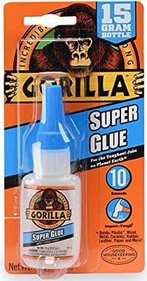 Gorilla Super Glue 15 Gram, Clear