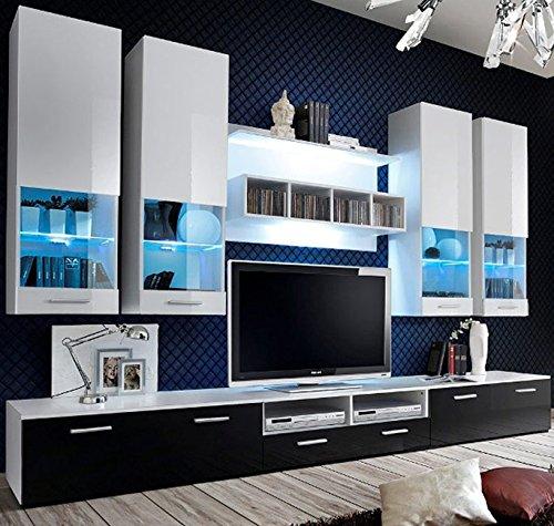 muebles bonitos Lettiemobili – Mobile da Soggiorno Arlesa Bianco e Nero (3 m)