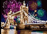 HUINXVEU Números de Pintura de Lienzo para Adultos y niños Número de Color DIY Puente de Fuegos Artificiales a Base de Cero Set de Regalo decoración de la habitación pintor40x50cm Sin Marco