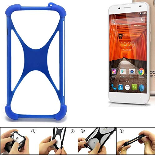 K-S-Trade® Handyhülle Für Swees Godon X589 Silikon Schutz Hülle Cover Case Bumper Silikoncase TPU Softcase Schutzhülle Smartphone Stoßschutz, Blau (1x),